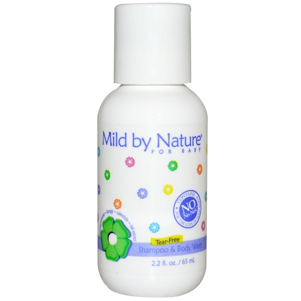 Mild By Nature, For Baby, Shampoo & Body Wash, 2.2 fl oz (65 ml) (Discontinued Item)