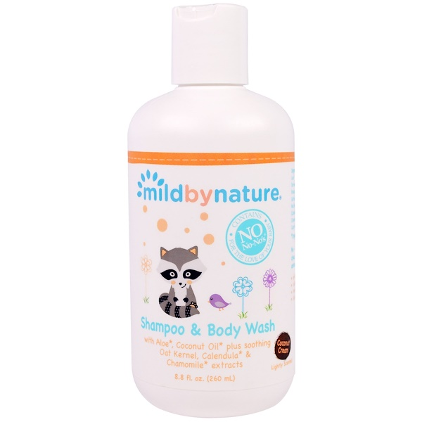 Mild By Nature, For Baby, Shampoo & Body Wash, Coconut Cream, 8.8 fl oz (260 ml) (Discontinued Item)