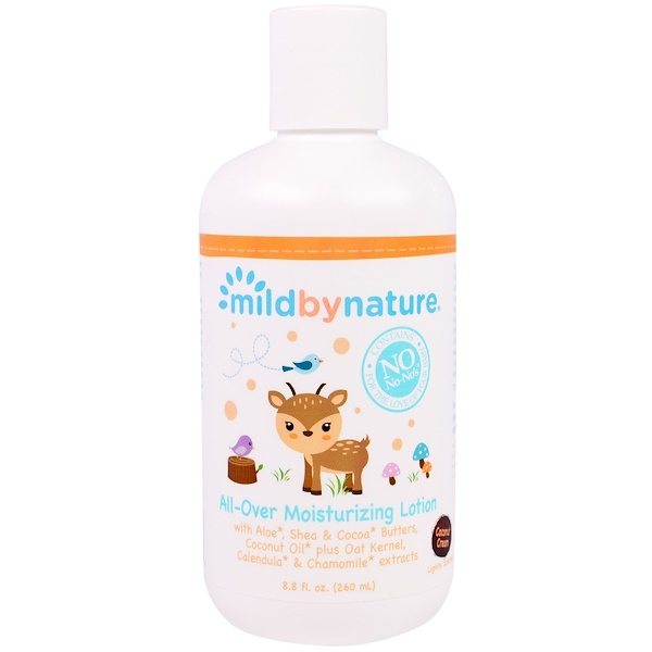 Mild By Nature, All-Over Moisturizing Lotion, Coconut Cream, 8.8 fl oz, (260 ml)