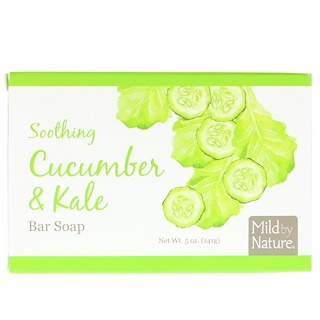 Mild By Nature, Soothing Bar Soap, Cucumber & Kale, 5 oz (141 g)