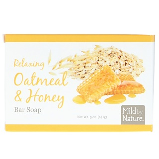 Mild By Nature, صابون لوح الاسترخاء، دقيق الشوفان والعسل، 5 أوقية (141 غرام)