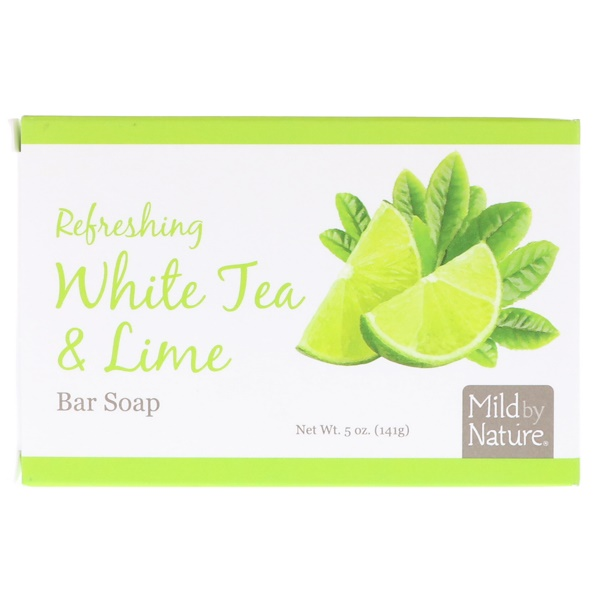 Mild By Nature, Refreshing Bar Soap, White Tea & Lime, 5 oz (141 g) (Discontinued Item)