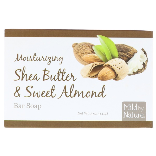 Mild By Nature, Moisturizing Bar Soap, Shea Butter & Sweet Almond, 5 oz (141 g) (Discontinued Item)