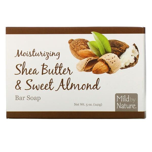 Mild By Nature, Jabón en barra hidratante, Manteca de karité y almendra dulce, 5 oz (141 g) (Discontinued Item)