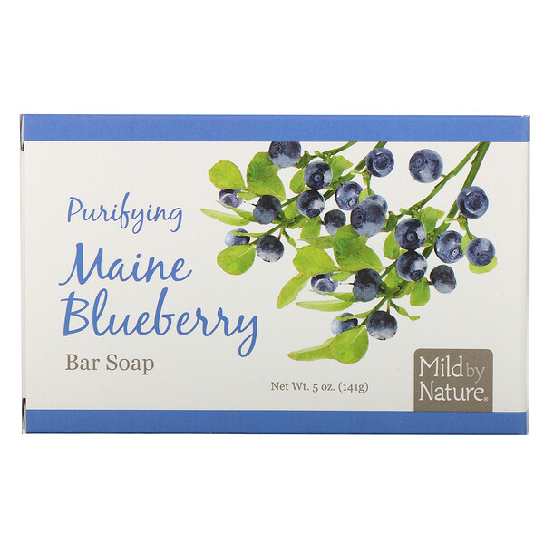 Mild By Nature, Purifying Bar Soap, Maine Blueberry, 5 oz (141 g) (Discontinued Item)