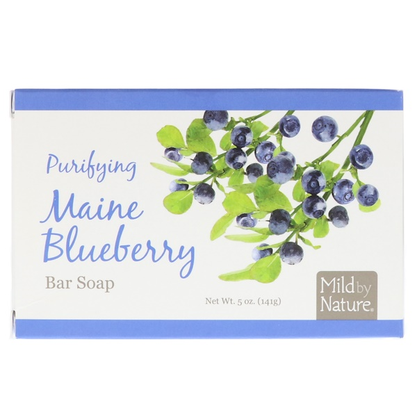 Mild By Nature, Purifying Bar Soap, Maine Blueberry, 5 oz (141 g)