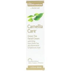 Mild By Nature, Camellia Care, крем для лица с зеленым чаем, 50 мл