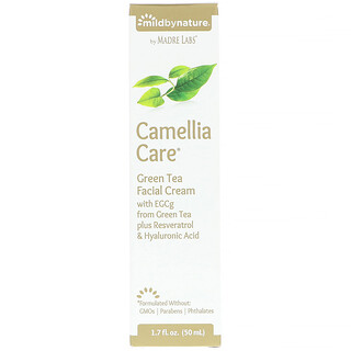Mild By Nature, Cuidado de camelia, crema facial de té verde, 1.7 fl. Oz (50 ml)