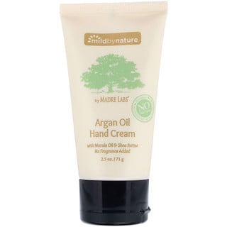 Mild By Nature, Argan Oil Hand Cream with Marula Oil & Coconut Oil plus Shea Butter, Soothing and Unscented, 2.5 oz (71 g)