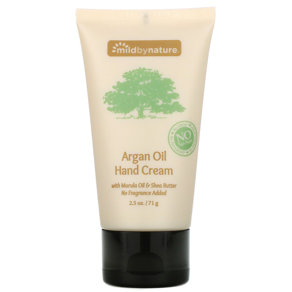 Argan Oil Hand Cream with Marula Oil & Coconut Oil plus Shea Butter, Soothing and Unscented, 2.5 oz (71 g)