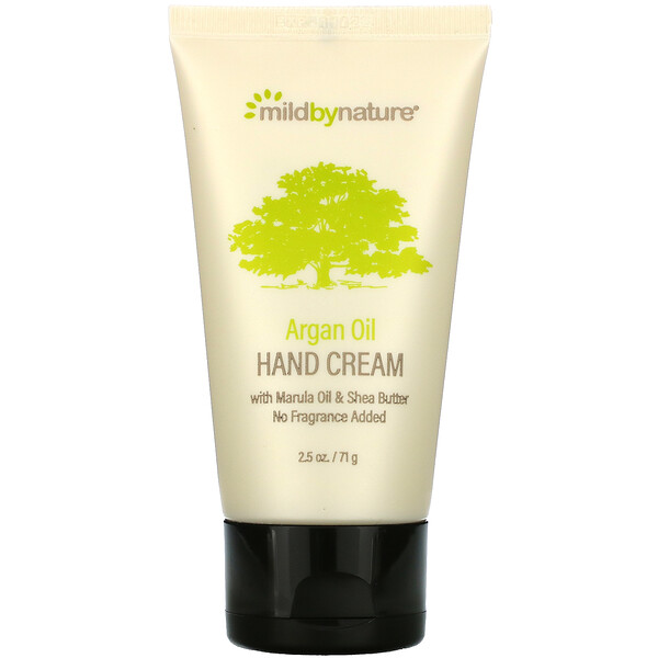 Argan Oil Hand Cream with Marula Oil & Shea Butter, Unscented, 2.5 oz (71 g)