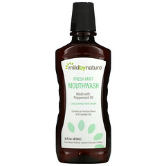 Mild By Nature, Mouthwash, Made with Peppermint Oil, Long-Lasting Fresh Breath, Fresh Mint, 16 fl oz (473 ml)