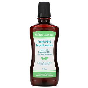 Милд бай нэйчур, Mouthwash, Made with Peppermint Oil, Long-Lasting Fresh Breath, Fresh Mint, 16 fl oz отзывы покупателей