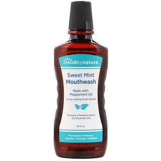 92519f32b4f3 Mild By Nature, Mouthwash, Made with Peppermint Oil, Long-Lasting Fresh  Breath, Sweet Mint, 16 fl oz