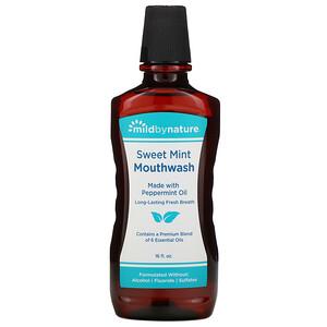 Милд бай нэйчур, Mouthwash, Made with Peppermint Oil, Long-Lasting Fresh Breath, Sweet Mint, 16 fl oz отзывы покупателей