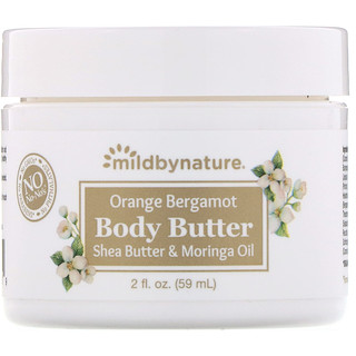 Mild By Nature, Orange Bergamot Body Butter, 2 fl oz (59 ml)