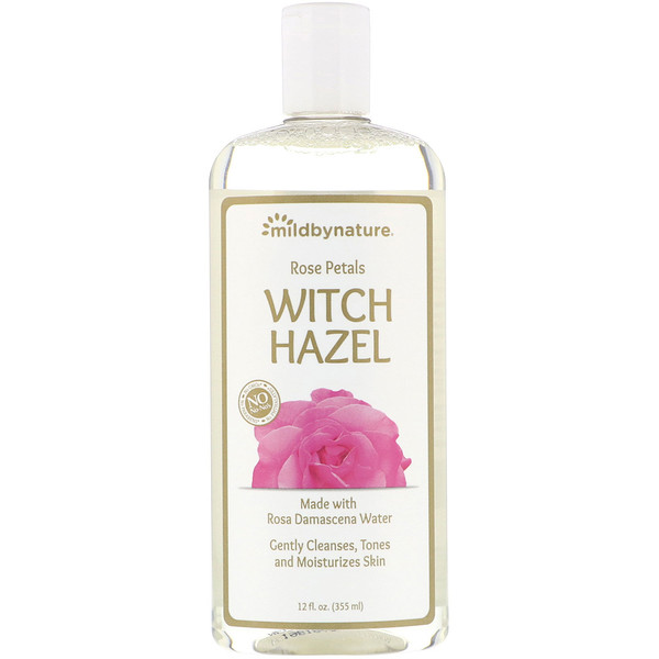 Mild By Nature, Witch Hazel, Rose Petal, Alcohol-Free, 12 fl oz (355 ml)