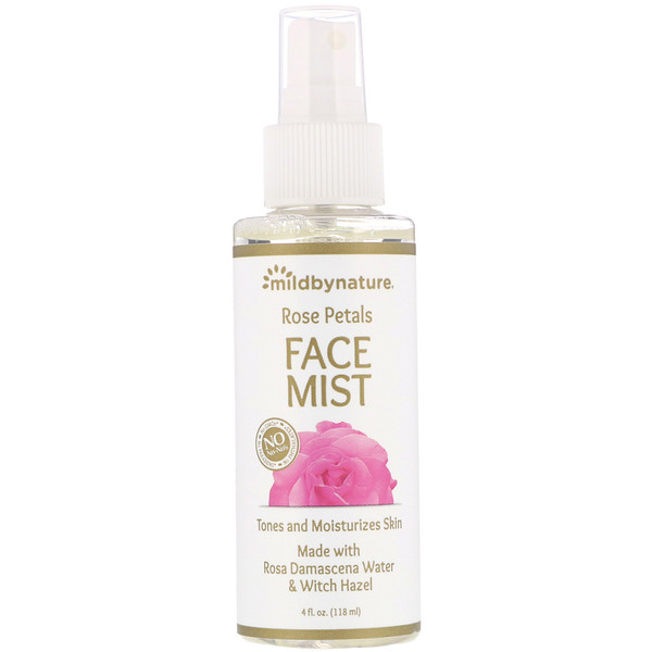 Witch Hazel, Rose Petal Face Mist, Alcohol-Free, 4 fl oz (118 ml)