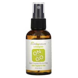 Милд бай нэйчур, On the Go, Hand Cleanser, Alcohol-Free, Lemongrass, 2 fl oz (60 ml) отзывы покупателей