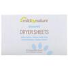 Mild By Nature, 乾燥機用シート型柔軟剤、無香料、コンポスタブル(生分解性)シート40枚