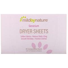 Mild By Nature, 干衣纸,天竺葵味,40 片装(可堆肥)