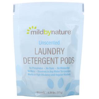 Mild By Nature, 洗衣凝珠,無味,10 粒,0.39 磅(177 克)