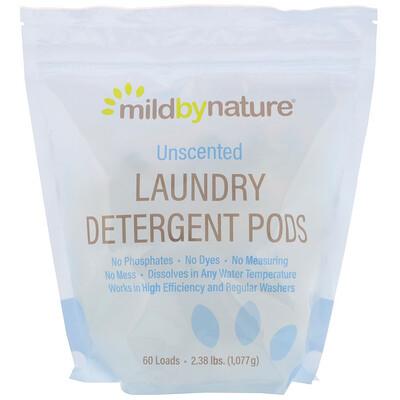 Купить Mild By Nature Капсулы со стиральным порошком, без запаха, на 60загрузок, 1077г (2, 38унции)
