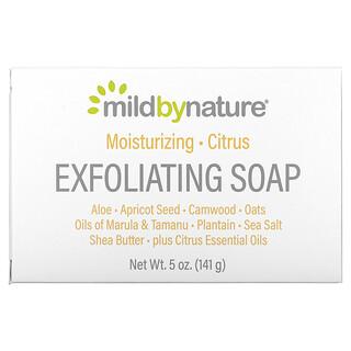 Mild By Nature, Exfoliating Bar Soap, with Marula & Tamanu Oils plus Shea Butter, Citrus, 5 oz (141 g)