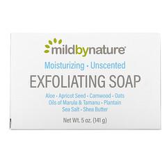 Mild By Nature, لوح صابون للتقشير، بزيوت المارولا والتامانو بالإضافة لزبدة الشيا، بدون رائحة، 5 أونصة (141 جم)