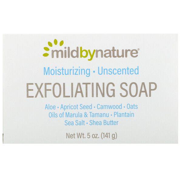 Madre Labs, Exfoliating Soap Bar with Marula & Tamanu Oils plus Shea Butter、無香料、5オンス(141 g)