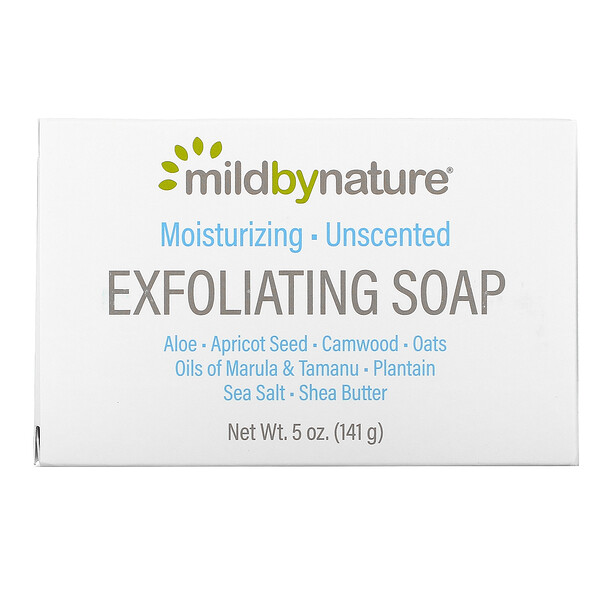 Mild By Nature, Exfoliating Bar Soap, Unscented, 5 oz (141 g)