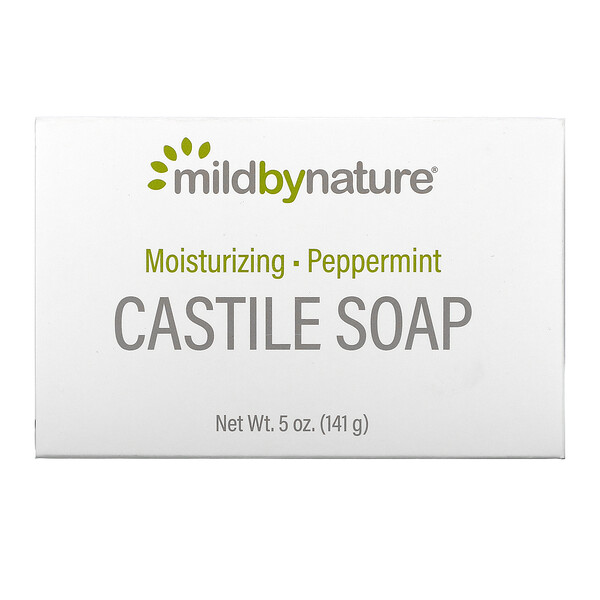 Castile Soap Bar, Peppermint, 5 oz (141 g)
