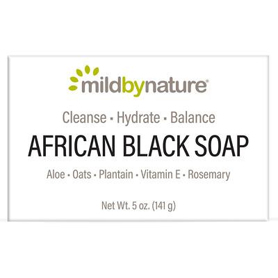 Купить Mild By Nature Африканское черное мыло, с овсом и подорожником, 141 г (5 унций)