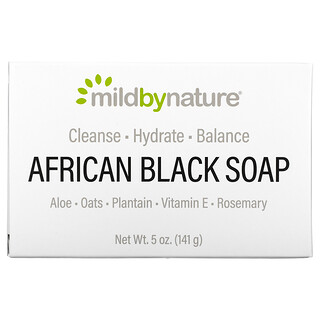 Mild By Nature, African Black, Bar Soap, With Oats & Plantains, 5 oz (141 g)