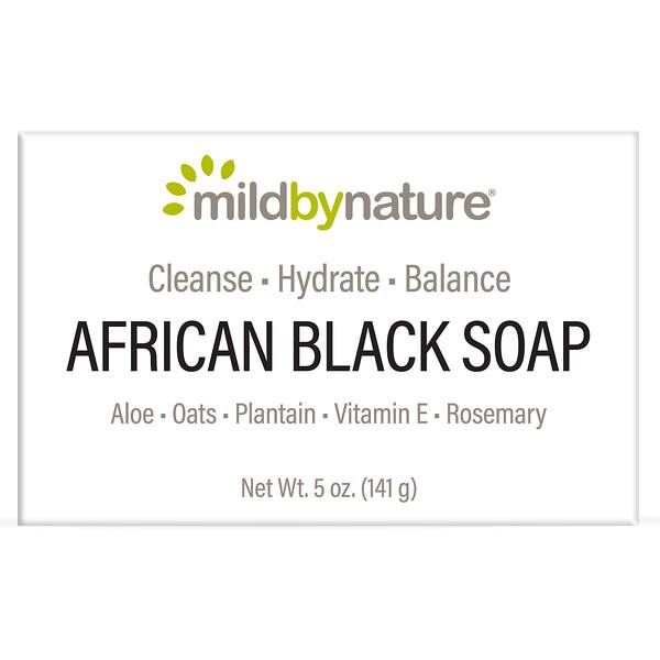 Barra de jabón negro africano, Con avena y llantén, 141g (5oz)