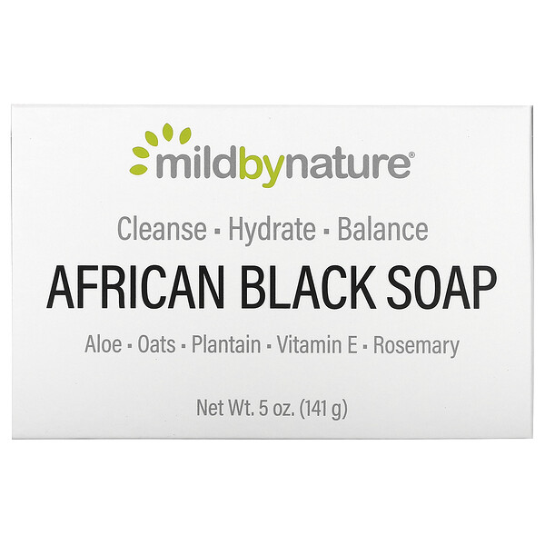 Mild By Nature, African Black, Bar Soap, With Oats & Plaintains, 5 oz (141 g)