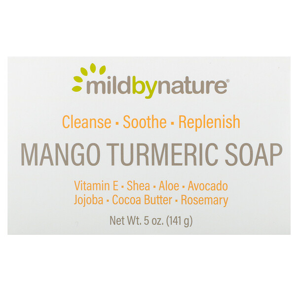Mild By Nature, Mango Turmeric Soap Bar, 5 oz (141 g)