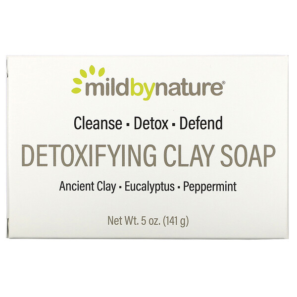 Mild By Nature, Detoxifying Clay, Bar Soap, Eucalyptus & Peppermint, with Ancient Clay, 5 oz (141 g)
