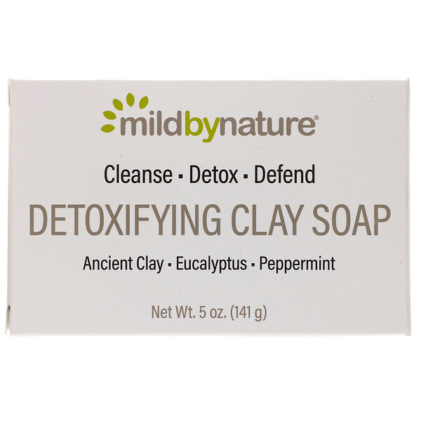 Detoxifying Clay, Bar Soap, Eucalyptus & Peppermint, with Ancient Clay, 5 oz (141 g)