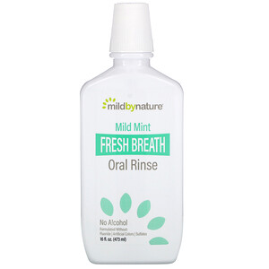 Mild By Nature, Fresh Breath Oral Rinse, No Alcohol, Mild Mint, 16 fl oz (473 ml)'