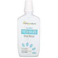 Mild By Nature, Fresh Breath Oral Rinse, No Alcohol, Icy Mint, 16 fl oz (473 ml)
