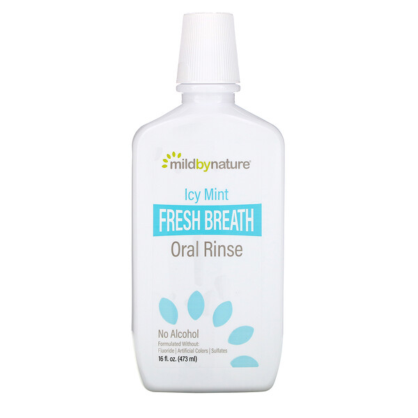 Fresh Breath Oral Rinse, No Alcohol, Icy Mint, 16 fl oz (473 ml)