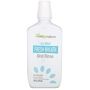 Mild By Nature, Fresh Breath Oral Rinse, No Alcohol, Icy Mint, 16 fl oz (473 ml)'