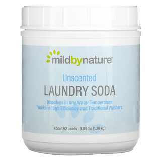 Mild By Nature, Laundry Soda, Unscented, 3.04 lbs (1.38 kg)