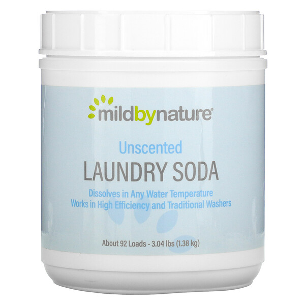 Laundry Soda, Unscented, 3.04 lbs (1.38 kg)