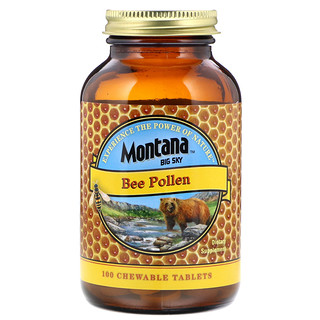 Montana Big Sky     , Bee Pollen, 100 Chewable Tablets