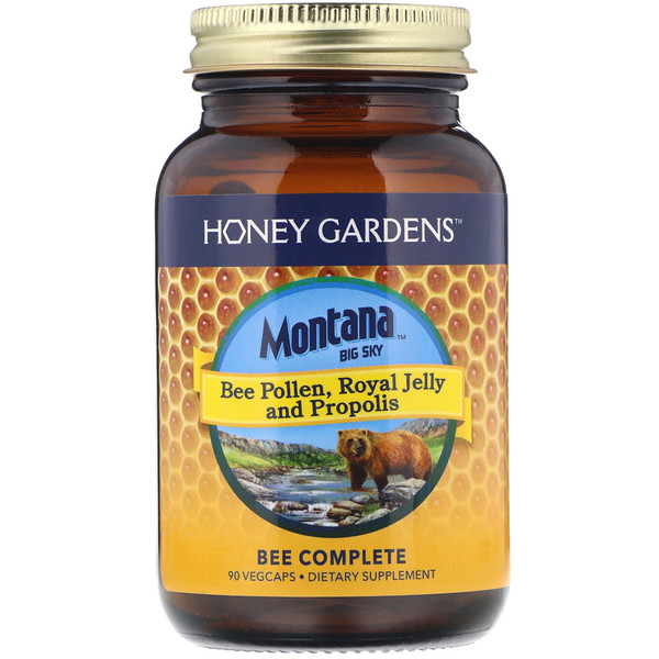 Montana Big Sky     , Bee Pollen, Royal Jelly and Propolis, 90 Vegcaps (Discontinued Item)