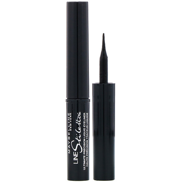 Maybelline, Line Stiletto, Ultimate Precision Liquid Eyeliner, 501 Blackest Black, 0.05 fl oz (1.5 ml)