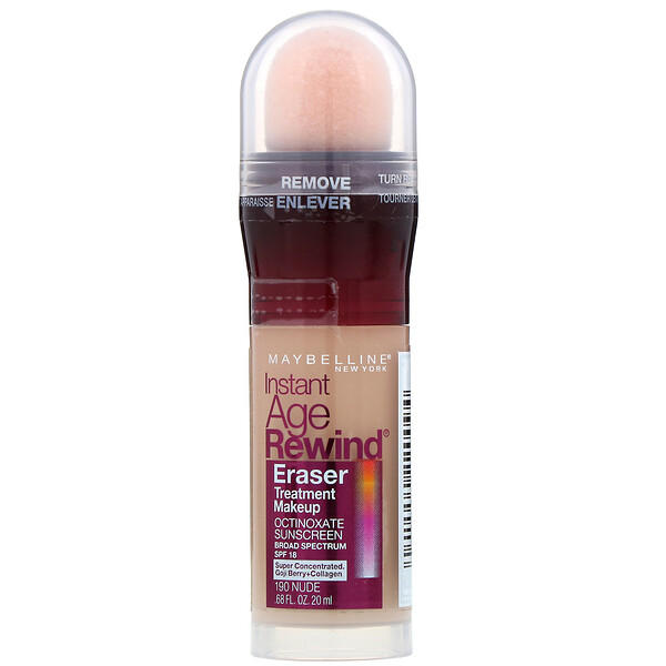 Instant Age Rewind, Eraser Treatment Makeup, 190 Nude, 0.68 fl oz (20 ml)