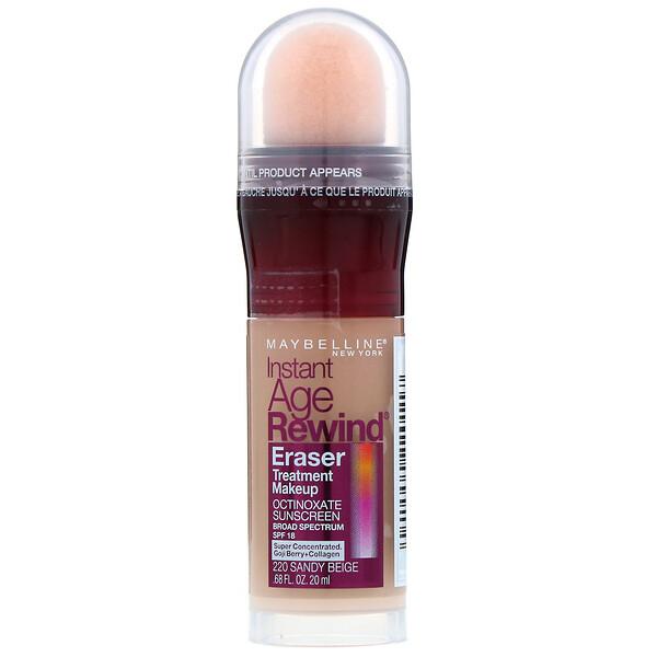 Instant Age Rewind, Eraser Treatment Makeup, 220 Sandy Beige , 0.68 fl oz (20 ml)